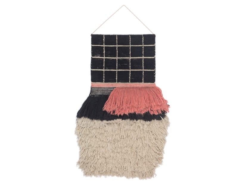 Arazzo in lana WALLHANGING QUADRO CELESTE #671 by cc-tapis