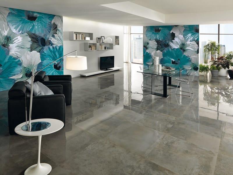 Relief panoramic nonwoven wallpaper WALLPAPER LUX CAMPANULA by AVA Ceramica