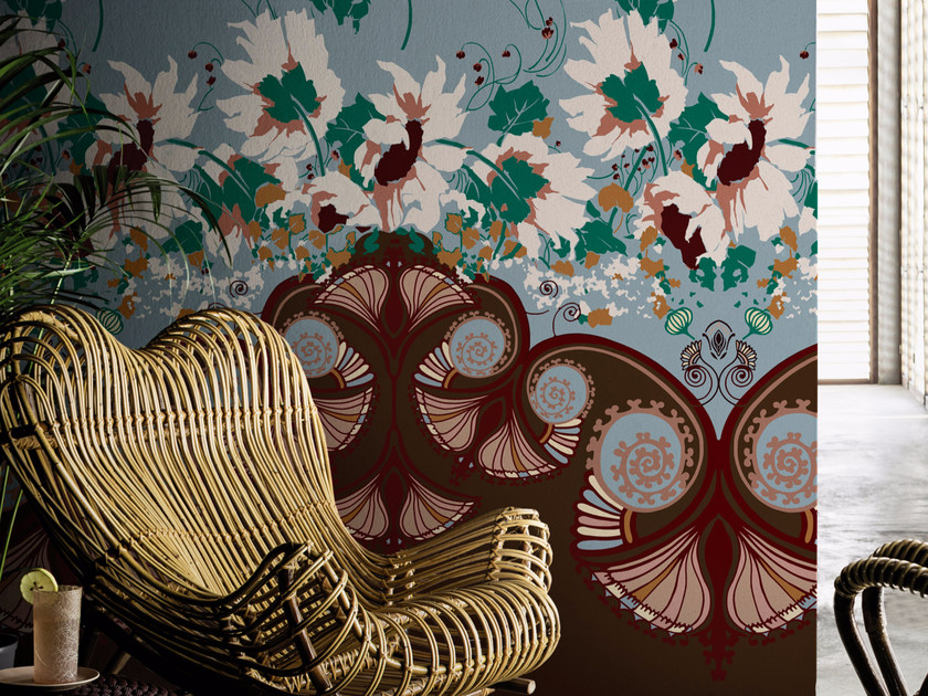 Wallpaper with floral pattern JASMINUM by Wall&decò