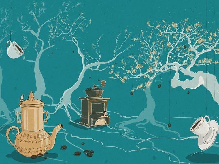 Wallpaper LA FLORA ARABICA by Wallpepper