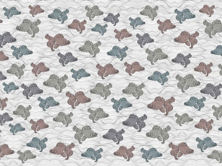 Motif wallpaper COLORED FISH by Wallpepper