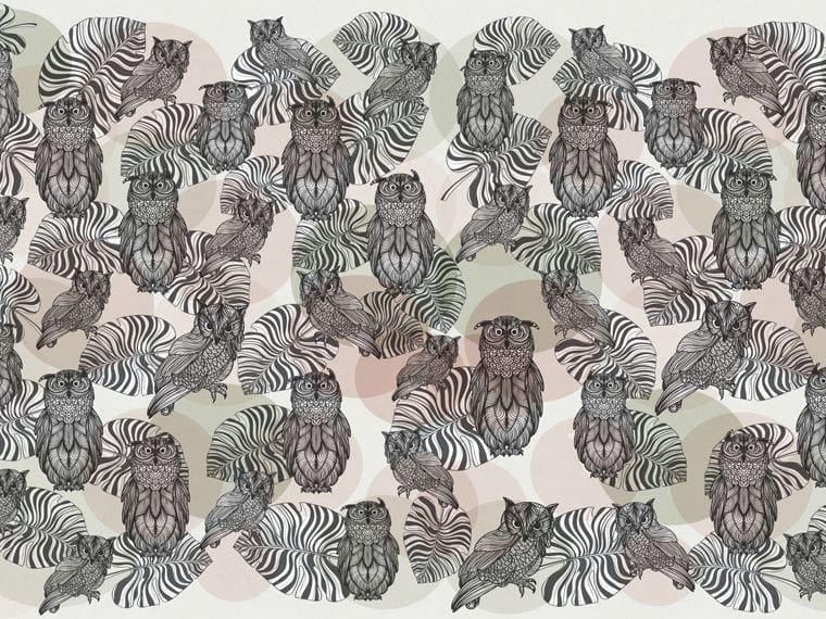 Motif wallpaper OWLS by Wallpepper