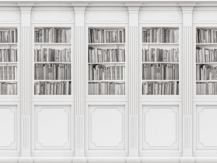 Wallpaper, PVC free, eco, washable BOOKCASE by Wallpepper