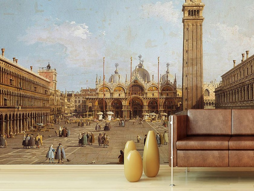 Trompe l'oeil wallpaper VUE DE LA PLACE SAINT MARC A VENISE by Wallpepper