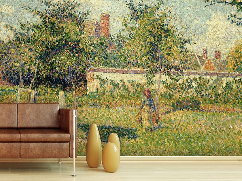 Landscape wallpaper DONNA IN UN PRATO by Wallpepper
