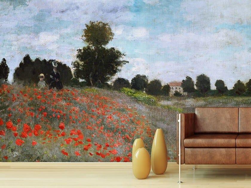 Trompe l'oeil wallpaper I PAPAVERI by Wallpepper