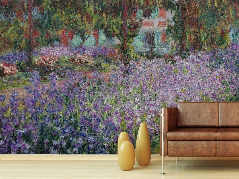 Trompe l'oeil wallpaper IL GIARDINO DELL'ARTISTA A GIVERNY by Wallpepper