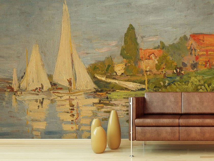 Trompe l'oeil wallpaper REGATE AD ARGENTEUIL by Wallpepper