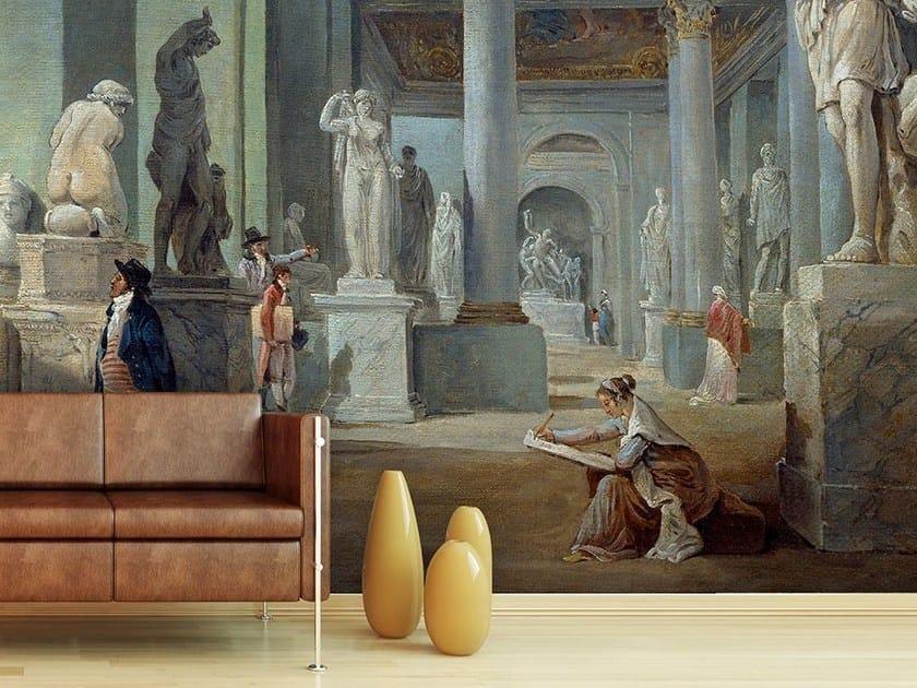 Trompe l'oeil wallpaper LA SALLE DES SAISONS AU MUSEE DU LOUVRE by Wallpepper