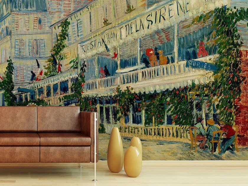 Trompe l'oeil wallpaper RESTAURANT DE LA SIRENE by Wallpepper