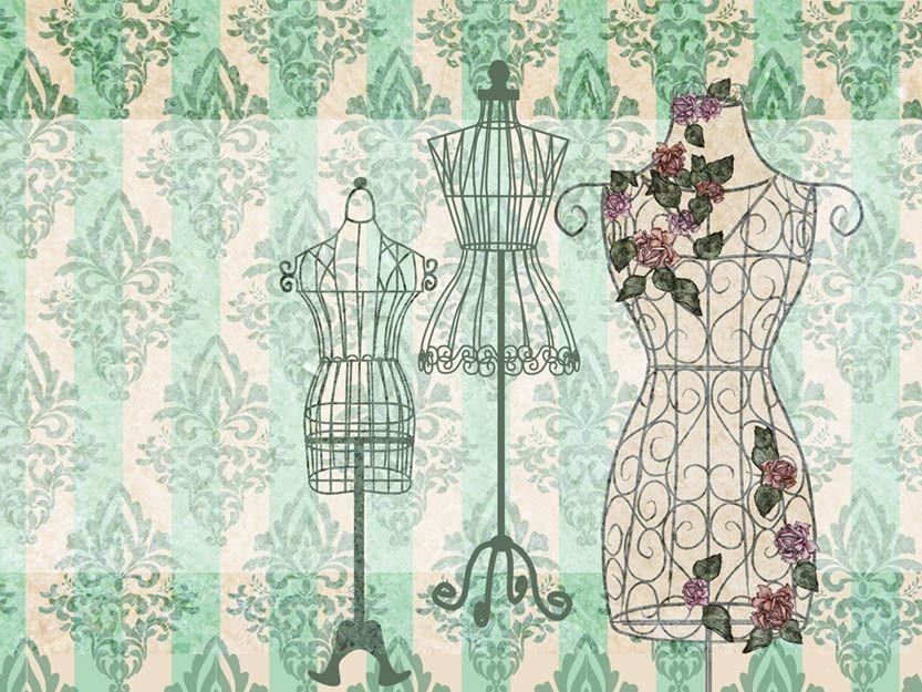 Classic but contemporary wallpaper, PVC free, eco, washable NOSTALGIC MANNEQUIN by Wallpepper