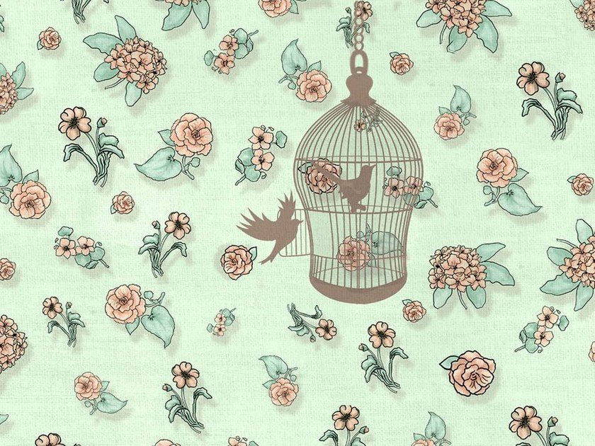 Classic but contemporary wallpaper, PVC free, eco, washable THE OPEN CAGE by Wallpepper
