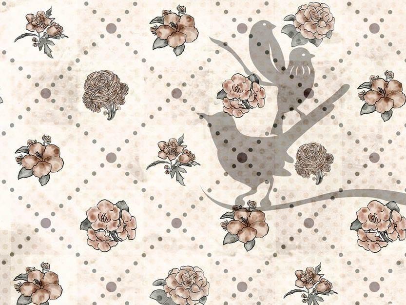 Wallpaper BIRDS AND FLOWERS by Wallpepper