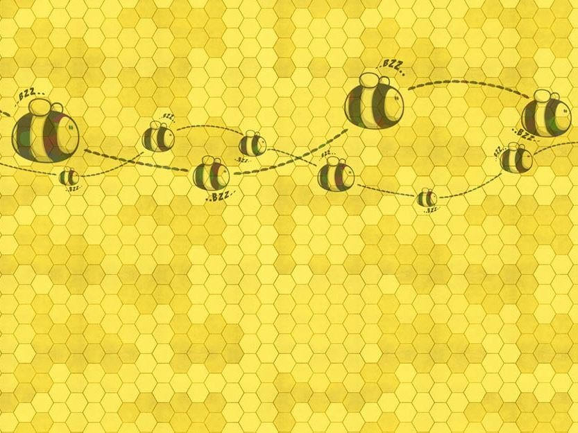 For all ages wallpaper, PVC free, eco, washable HONEY TO THE BEE by Wallpepper