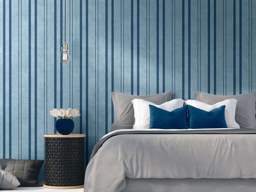 Striped vinyl wallpaper CLOÈ | Striped wallpaper by NANNI GIANCARLO & C.