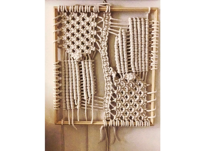 Rope wall decor item WALLY CORNICE DI LEGNO by Rope Studio London
