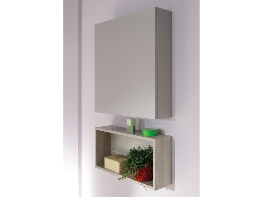 Modular suspended melamine bathroom cabinet WALLY by SANIJURA