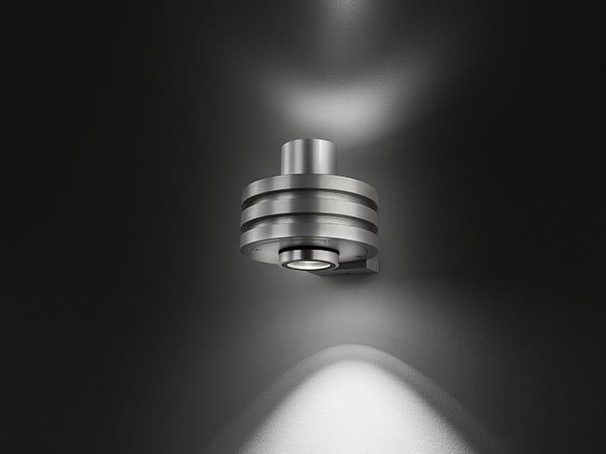 Applique per esterno a led a luce diretta e indiretta wally