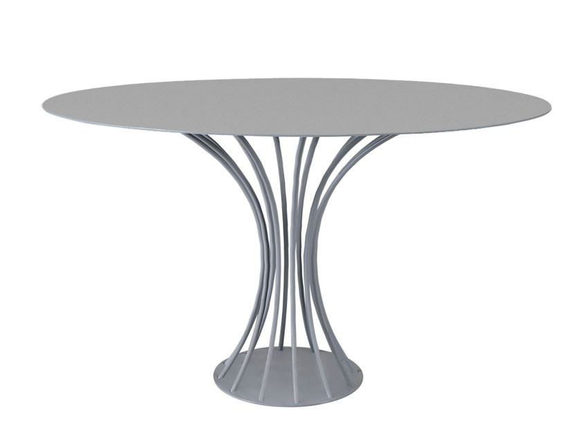 Lacquered steel dining table WALLYS by AZEA