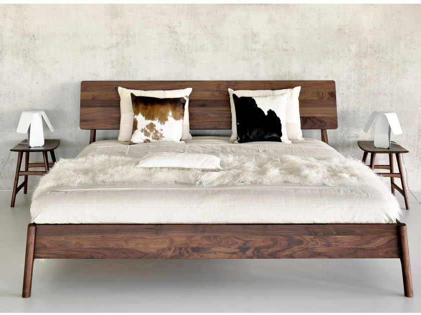 Walnut double bed WALNUT AIR | Bed by Ethnicraft