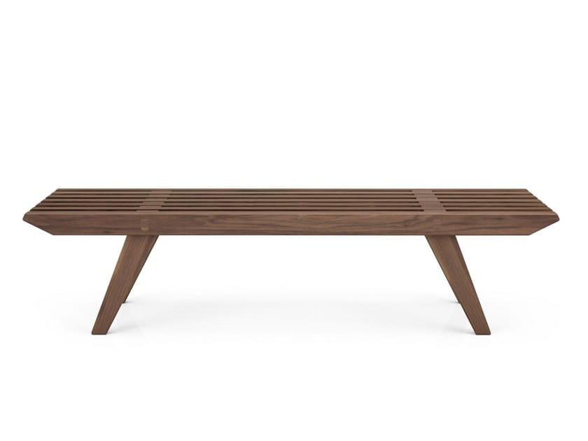 Walnut bench FRIDA | Walnut bench by Huppé