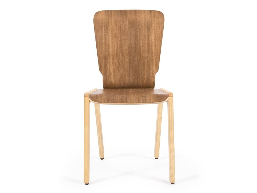 Stackable walnut chair TIPRO | Walnut chair by UBIKUBI