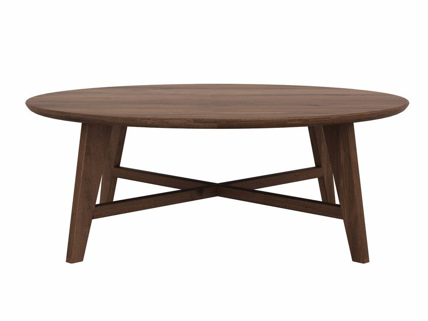 Round Walnut Coffee Table Osso By Ethnicraft