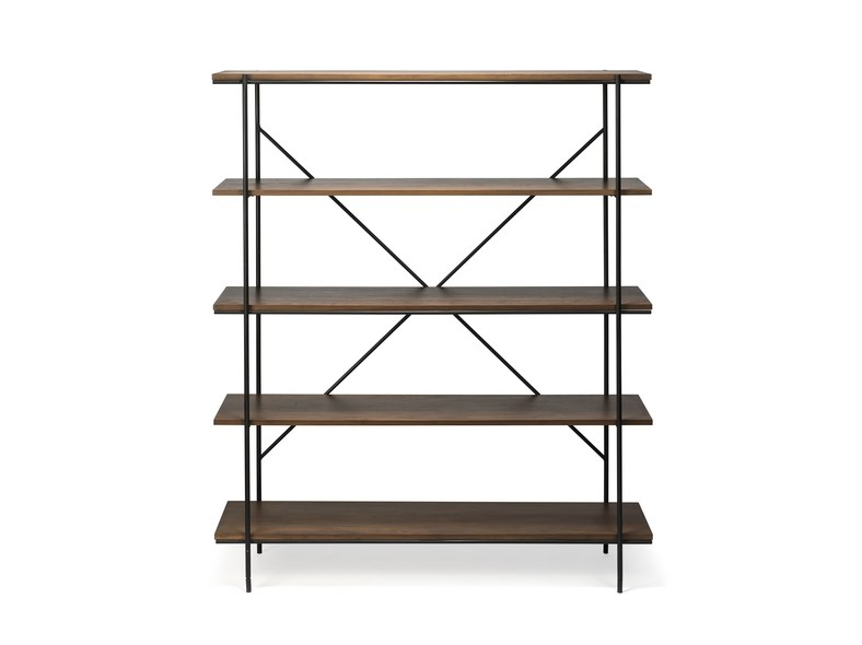 Open wall-mounted freestanding walnut bookcase WALNUT RISE | Bookcase by Ethnicraft