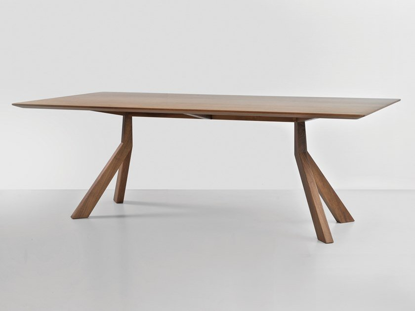 Rectangular wood veneer table BRIDGE | Wood veneer table by Hemonides
