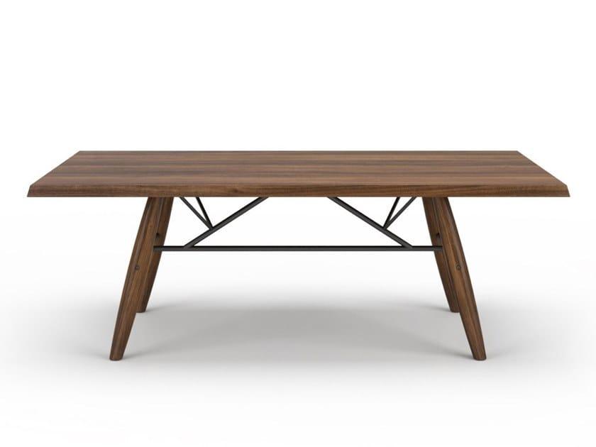 Rectangular walnut dining table CONNECTION | Walnut table by Huppé