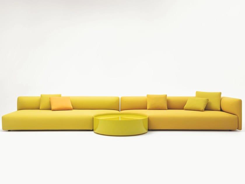 Modulares Sofa aus Stoff mit abnehmbarem Bezug WALT by Paola Lenti