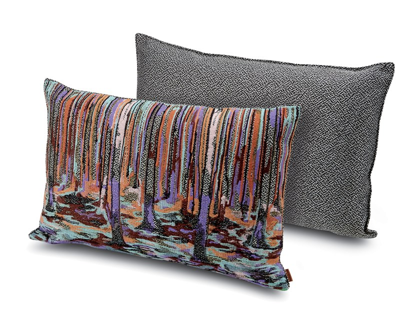 Cushion in jacquard fabric WANGS by MissoniHome