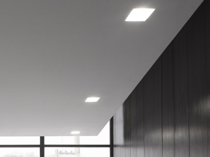 LED direct light recessed ceiling lamp WANTED | Recessed ceiling lamp by GLIP by S.I.L.E