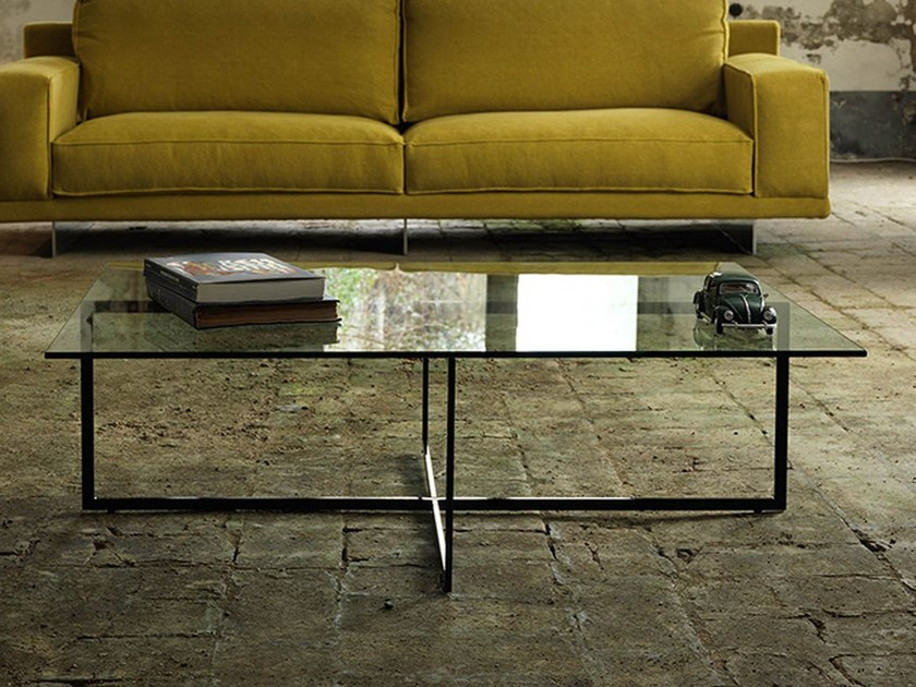 Rectangular glass coffee table for living room WARHOL | Rectangular coffee table by Domingo Salotti
