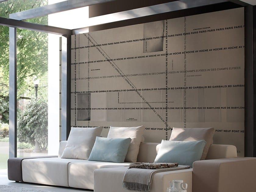Writing vinyl wallpaper WASE by Adriani e Rossi edizioni