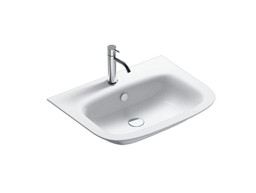Wall-mounted washbasin with overflow GREEN ONE | Washbasin by CERAMICA CATALANO