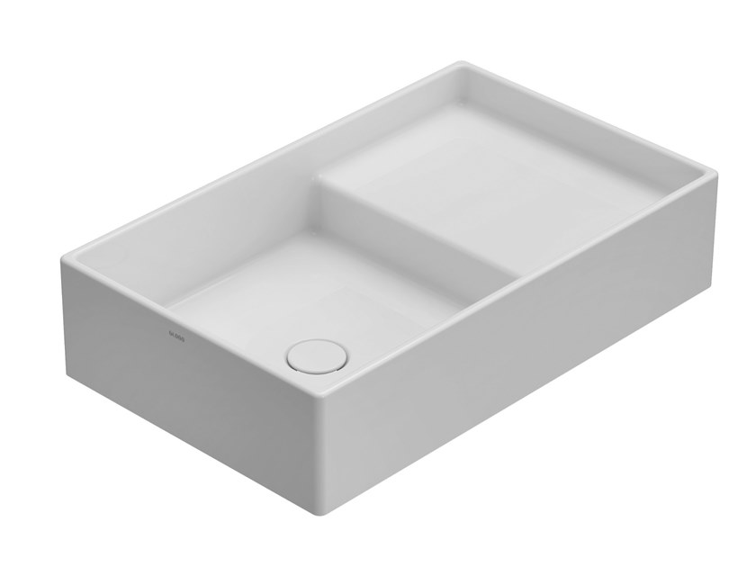 Countertop rectangular ceramic washbasin DISPLAY | Countertop washbasin by Ceramica Globo