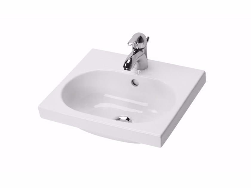 Rectangular porcelain washbasin for children MINIMÈ | Washbasin for children by Saniline