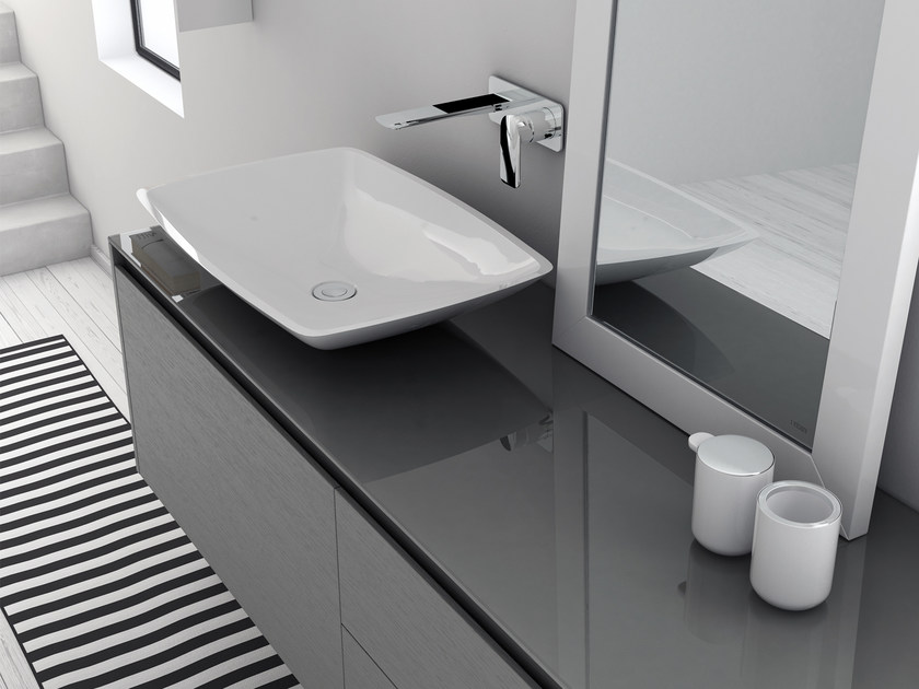 Countertop Mineralmarmo® washbasin LA450 | Countertop washbasin by INBANI