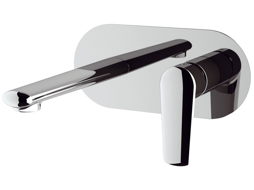 Wall-mounted washbasin mixer with plate VANITY | Wall-mounted washbasin mixer by Remer Rubinetterie