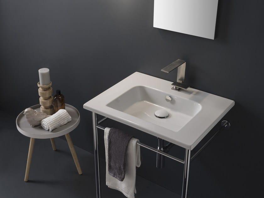 Console ceramic washbasin ETRA | Washbasin by Scarabeo Ceramiche