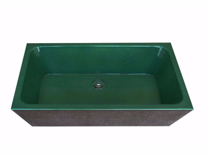 Glazed lava washbasin 7513 | Washbasin by Sgarlata