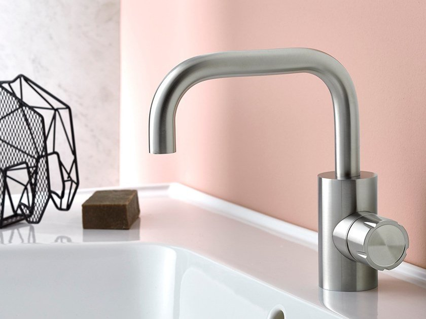 Countertop 1 hole stainless steel washbasin mixer SYNTH | Washbasin mixer by MINA