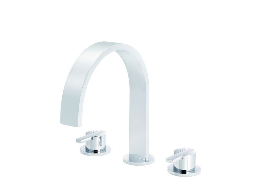 3 hole washbasin tap with pop up waste LINE | 3 hole washbasin tap by rvb