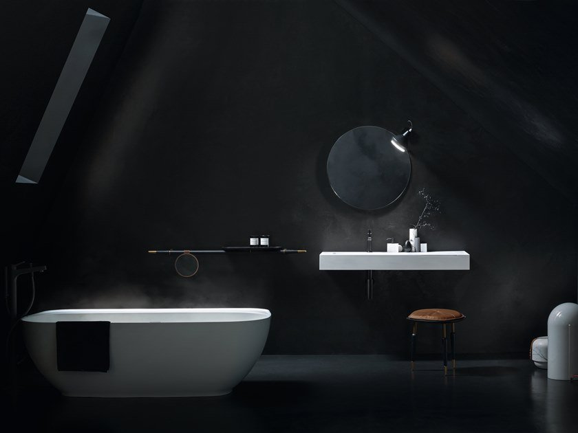 Solid Surface washbasin with integrated countertop FREE | Washbasin with integrated countertop by Cerasa