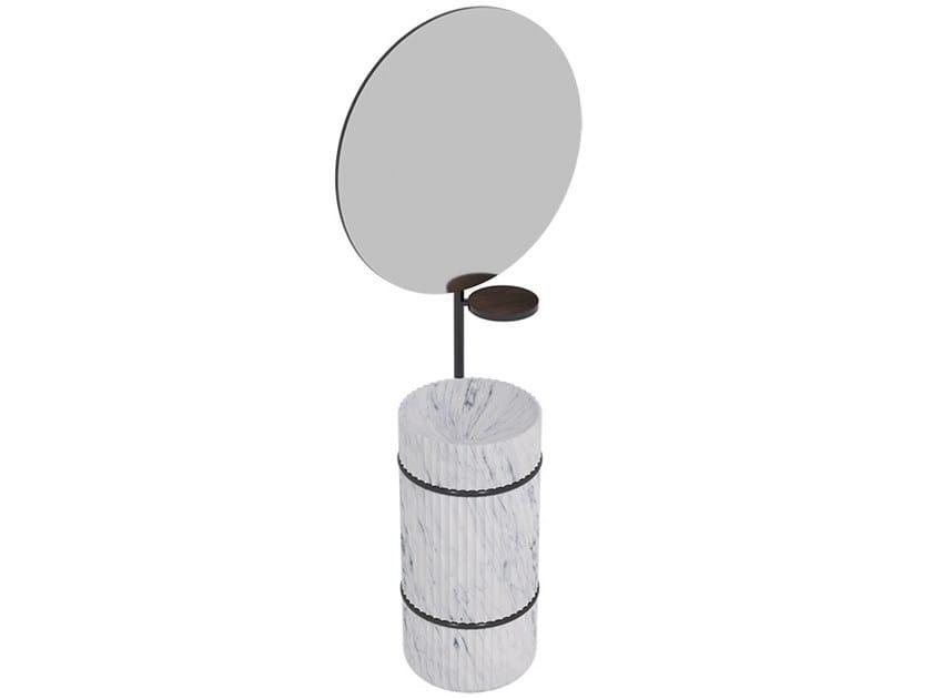 Freestanding round natural stone washbasin COLUMN | Freestanding washbasin by L'ANTIC COLONIAL
