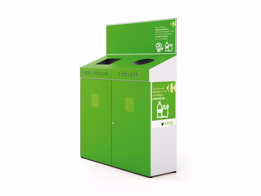 Litter bin for waste sorting TIP TAP by LAB23