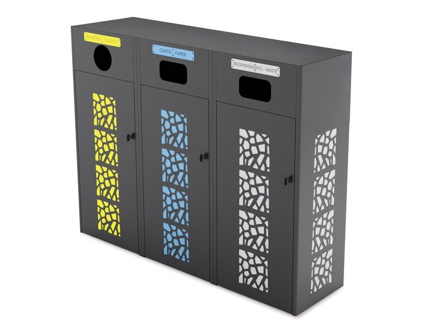 Litter bin for waste sorting CORAL COVER MINI by LAB23
