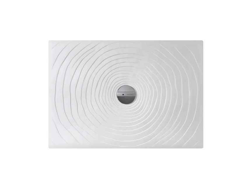 Piatto doccia rettangolare in ceramica WATER DROP 70 X 100 by CERAMICA FLAMINIA