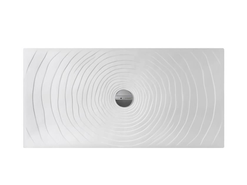 Piatto doccia rettangolare in ceramica WATER DROP 70 X 140 by CERAMICA FLAMINIA